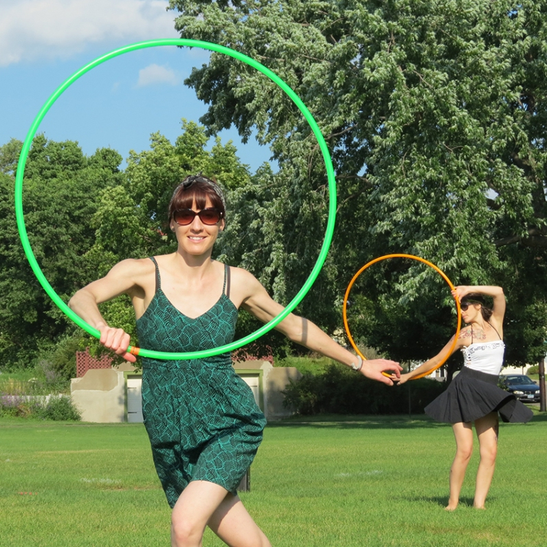 Amy Imdieke and Colleen Hurley Hoop dancing duo