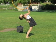 All I need is music and my hoop. Colleen Hurley