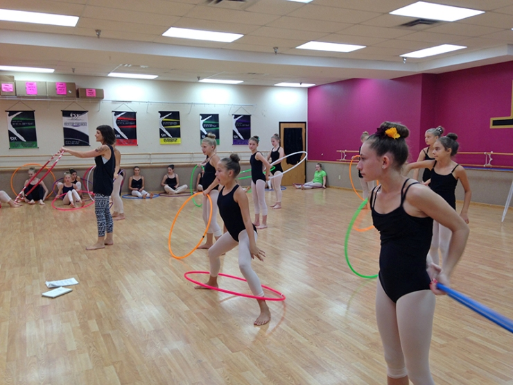 Teaching Hoop Dance at Ballet School