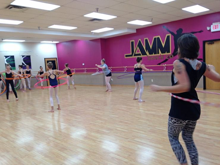 Teaching Hoop Dance at a Ballet School