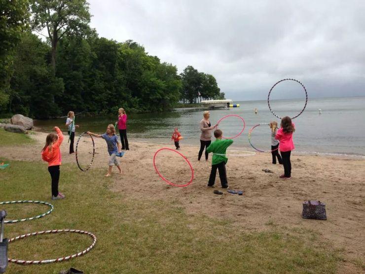 Hooping at the Lake