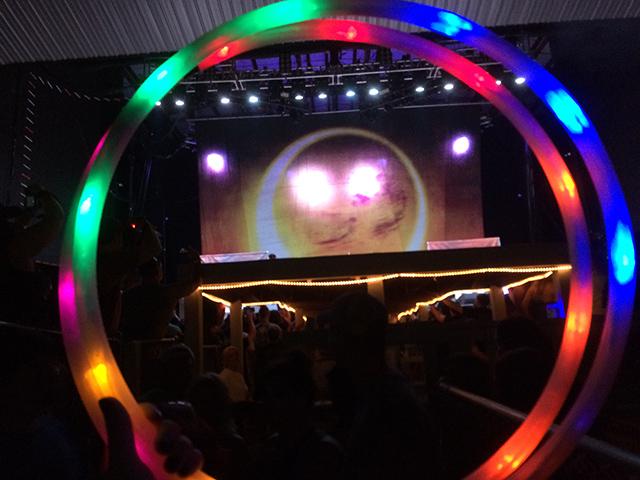 Rockfest 2015 Breaking Benjamin Backdrop and LED Hoop