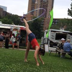 Loring Park Art Festival 2015 Foot Hooping