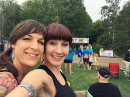 Amy and Colleen at Rock Your Sole 5K