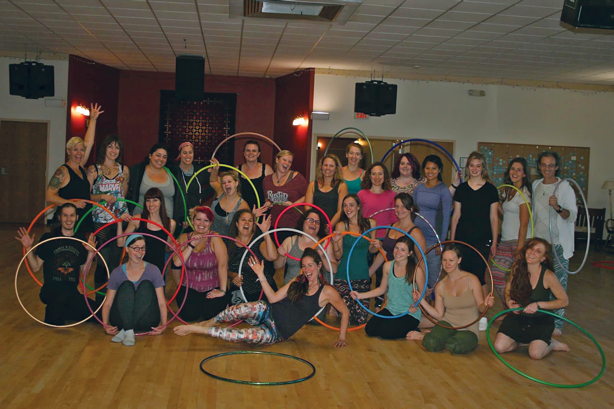 Babz Robinson Minneapolis Hoop Workshop Group Photo