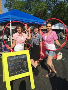 Twistin Vixens Hula Hoops at Northeast Minneapolis Farmers Market