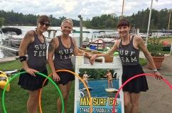 Twistin Vixens Hooping Surf Themed Hula Hoop Performers