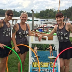 Twistin Vixens Hooping Surf Themed Hula Hoop Performers
