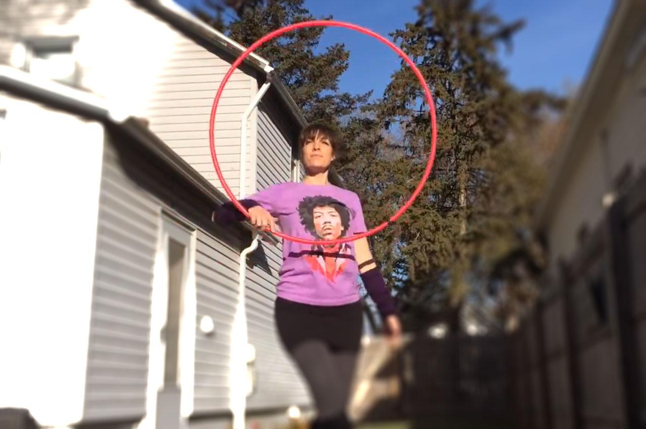 Colleen Hurley Hoop Dance Practice