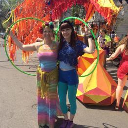 May Day Parade Rainbow Hoopers