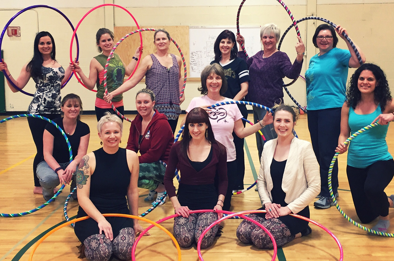 Sartell Community Ed Hoop Dance Class Spring 2016