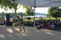Colleen on stage at RiverFest