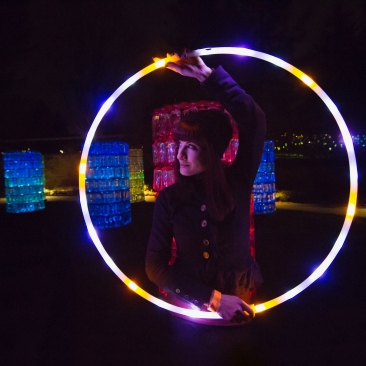 Amy Hooping at Bruce Munro Exhibit