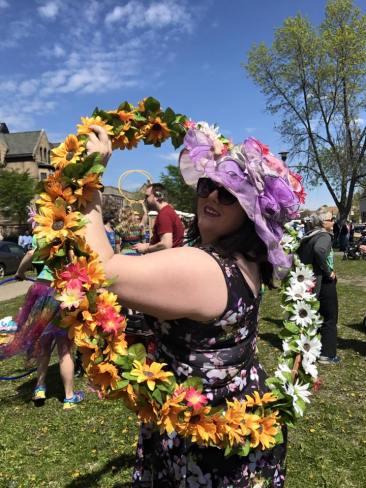 Stephanie with Flower Hoop